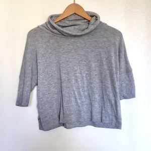 Mock neck gray shirt